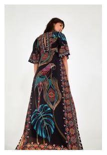 Vestido Cropped Lenco Bordado