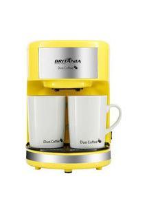 Cafeteira Britânia Duo Coffee Amarela 127V
