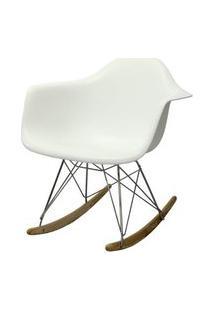 Cadeira Eames Com Braco Base Balanco Branco Fosco - 24501 Branco