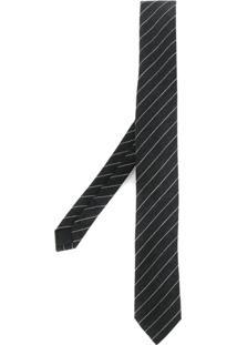 Saint Laurent Gravata Skinny Listrada - Grey