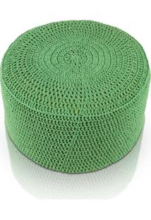 Puff Pastilha Crochê - Verde