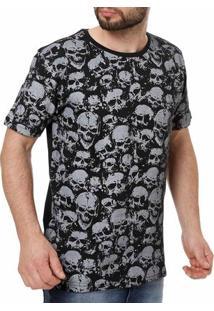Camiseta Manga Curta Masculina Local Preto