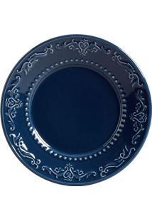 Prato Sobremesa Acanthus Deep Blue 6 Peças Porto Brasil