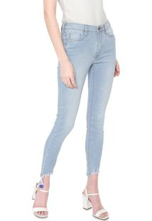 Calça Jeans Carmim Skinny Cropped Tassel Azul