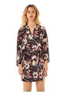 Robe Curto Est. Floral Rosa