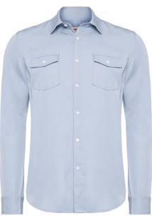 Camisa Masculina New Trip - Azul