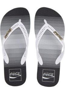 Chinelo Coca Cola Pacific Masculino - Masculino-Branco