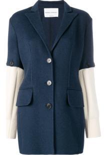 Sonia Rykiel Knitted Sleeves Blazer - Azul