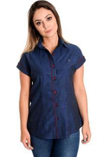 ... Camisa Pimenta Rosada Sabrina - Feminino-Azul d4692f4d19d9b