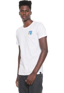 Camiseta Tectoy Sonic The Hedgehog Classic Face Branca