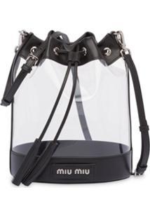 Miu Miu Bolsa Tiracolo Transparente - Preto