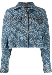 Versace Jeans Couture Jaqueta Jeans Com Estampa De Logo - Azul