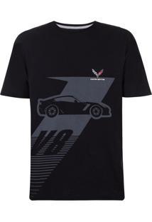 Camiseta Masculina Basic V8 Corvette Incolor
