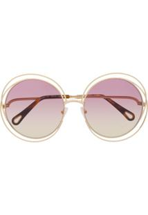 Chloé Eyewear Óculos De Sol Carlina - Marrom