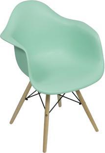 Poltrona Eames Dkr Com Braã§Os- Verde ÁGua & Bege- 82Or Design