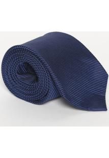 Gravata Lisa Com Seda - Azul - 8X148Cmcalvin Klein