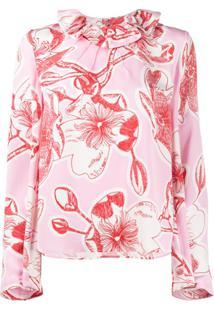 Stine Goya Poppy Floral Print Blouse - Rosa