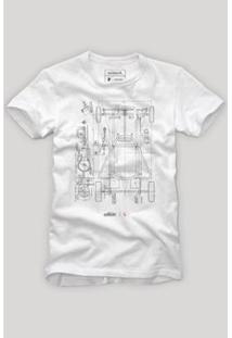Camiseta Reserva Chassi Masculina - Masculino-Branco