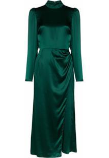 Reformation Vestido Carmelina Midi - Verde