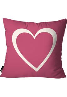 Capa Para Almofada Mdecore Coração Pink 55X55