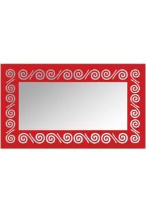 Espelho De Parede 12878V Vermelho 70X110 Art Shop