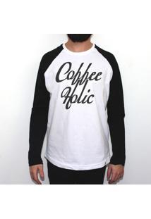 Café Americano - Camiseta Raglan Manga Longa Masculina