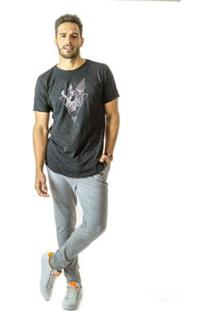 Camiseta Longline Curve Brohood Galaxy Masculina - Masculino