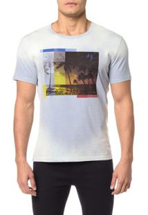 Camiseta Ckj Mc Estampa Praia - Pp