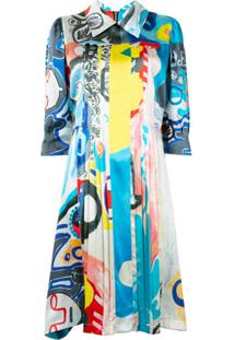 Charles Jeffrey Loverboy Abstract Print Dress - Azul