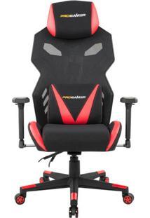 Cadeira De Escritório Gamer Pro Preta E Vermelha