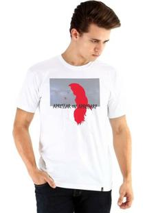 Camiseta Ouroboros Manga Curta Escolhas Masculina - Masculino-Branco
