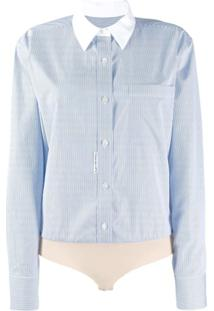 Alexander Wang Micro Stripe Shirt Body - Azul