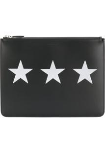 Givenchy Clutch De Couro Com Estampa - Preto