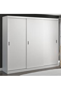 Guarda-Roupa Casal 3 Portas De Correr 100% Mdf 1903 Branco - Foscarini