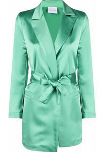 Antonella Rizza Blazer Envelope Com Amarração Na Cintura - Verde