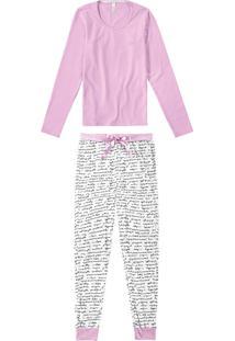 Pijama Longo Com Necessaire Malwee Liberta