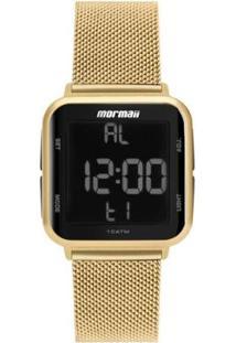 Relógio Mormaii Wave Aço Feminino - Feminino-Dourado