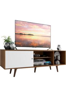 Rack Madesa Dubai Para Tv Até 65 Polegadas Com Pés - Rustic/Branco/Rustic