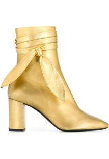 Saint Laurent Ankle Boot - Dourado
