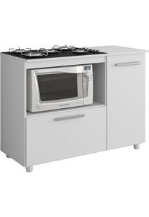 Armário Balcão Para Cooktop Premium Branco 2 Portas - Multimóveis
