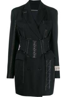 Ruban Jacket Dress With Corset - Preto