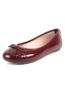 Sapatilha Tag Shoes Croco Verniz Laço Conforto Dia A Dia