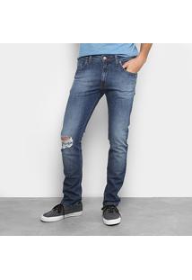 Calça Jeans Skinny Colcci Destroyed Masculina - Masculino-Jeans
