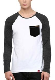 Camiseta Wevans Bolso Aplique Textura Preto - Masculino