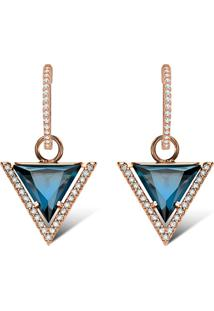 Brinco Ouro Rosã© E Topã¡Zios London E Diamantes