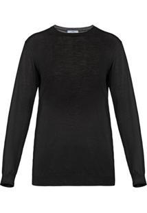 Prada Suéter Com Gola Redonda - Preto