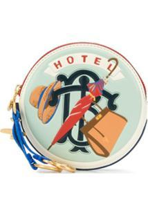 Tory Burch Carteira Hotel Redonda - Azul