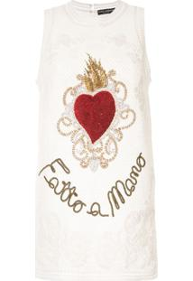 Dolce & Gabbana Regata Translúcida Com Bordado - Branco