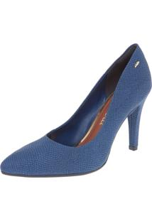 Scarpin Dakota Bico Fino Salto Alto Azul