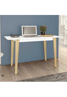 Mesa Escrivaninha Retrô Rt3086 Branco - Móvel Bento